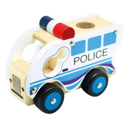 Poza cu Mașina poliției, din lemn